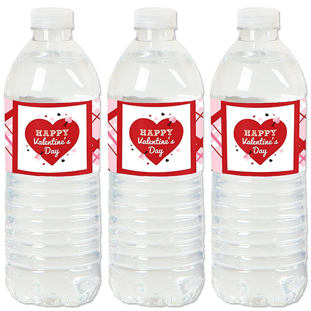Valentine S Day Conversation Hearts Valentine S Party Water Bottle Sticker Labels Set Of 20