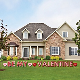 Conversation Hearts - Yard Sign Outdoor Lawn Decorations - Valentine's Day Party Yard Signs - Be My Valentine