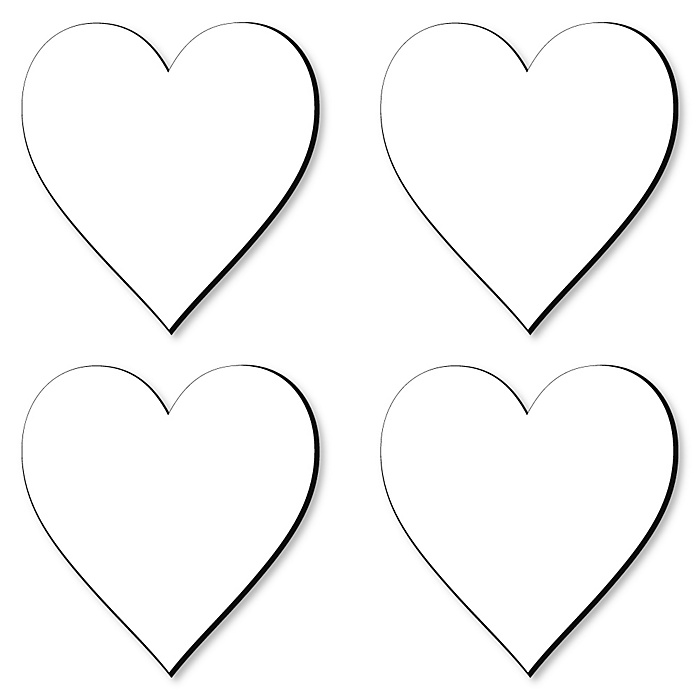 Heart Foam Board - Shaped DIY Craft Supplies for Resin and Painting - Blank Foam Board - 4 Piece