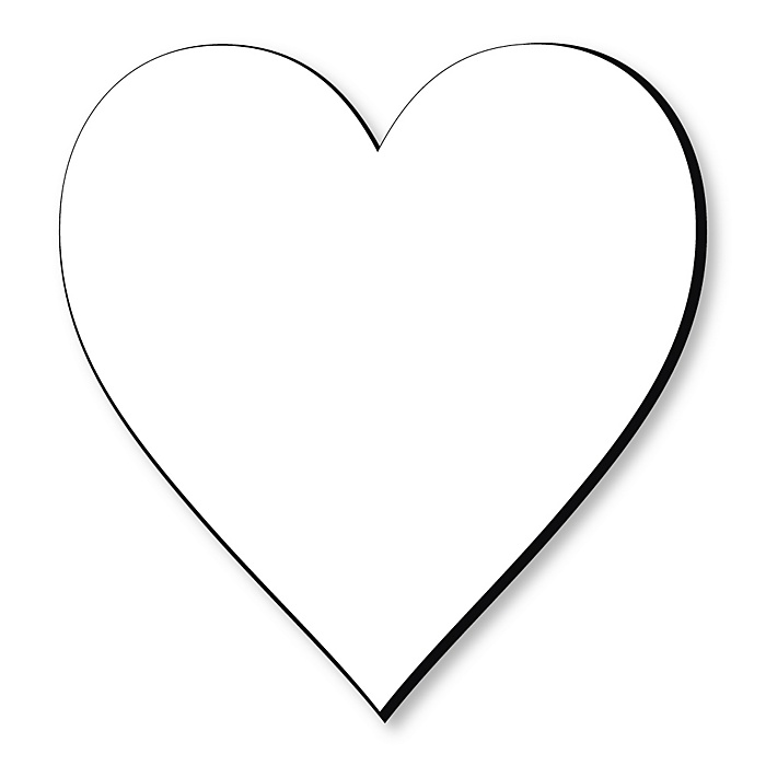 Heart Foam Board - Shaped DIY Craft Supplies for Resin and Painting - Blank Foam Board - 1 Piece