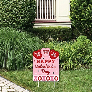 Conversation Hearts - Outdoor Lawn Sign - Valentine's Day Party Yard Sign - 1 Piece