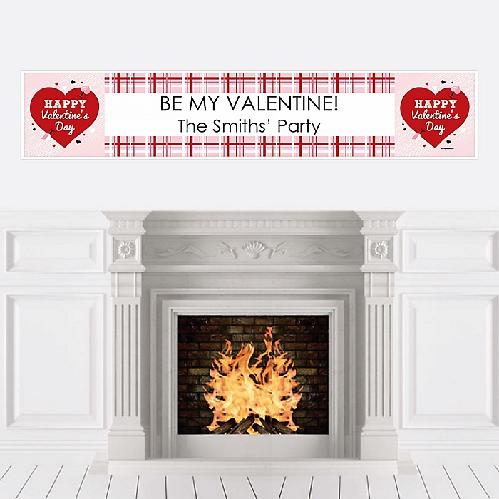 Conversation Hearts - Personalized Valentine's Day Party Banner