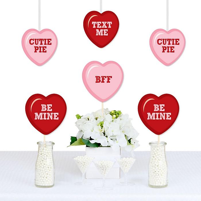 Conversation Hearts - Heart Decorations DIY Valentine's Day Party Essentials - Set of 20