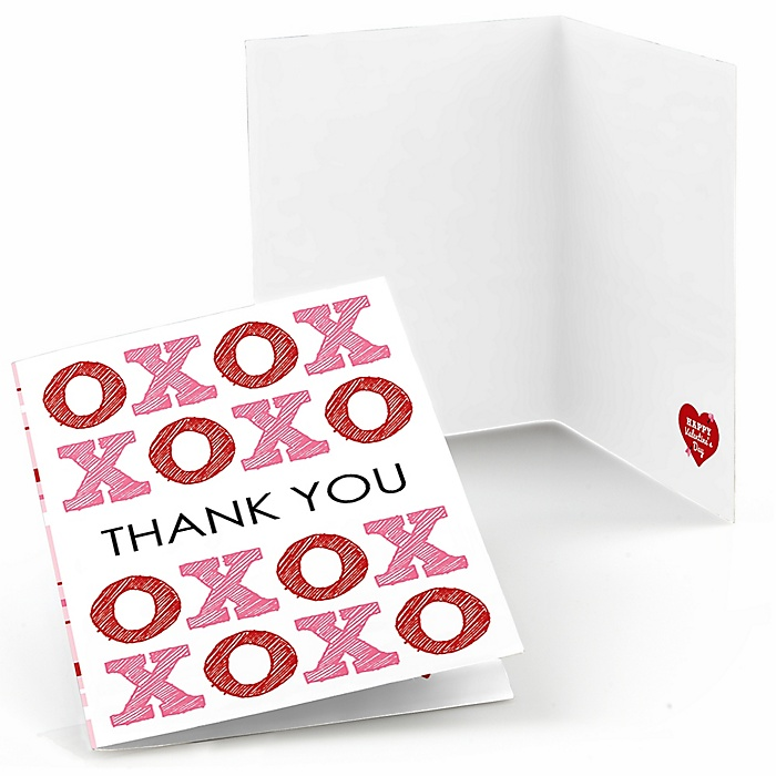 Conversation Hearts - Valentine's Day Party Thank You Cards (8 count)