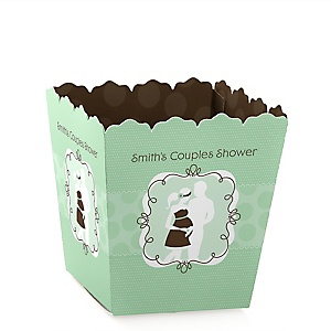 Silhouette Couples Baby Shower - It's A Baby - Personalized Baby Shower Candy Boxes