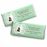 Silhouette Couples Baby Shower - It's A Baby - Personalized Baby Shower Candy Bar Wrapper Favors