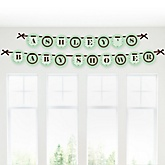 Silhouette Couples Baby Shower - It's A Baby - Personalized Baby Shower Garland Letter Banners