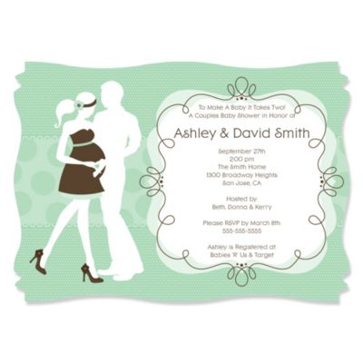 Silhouette Couples Baby Shower Its A Baby Personalized Baby