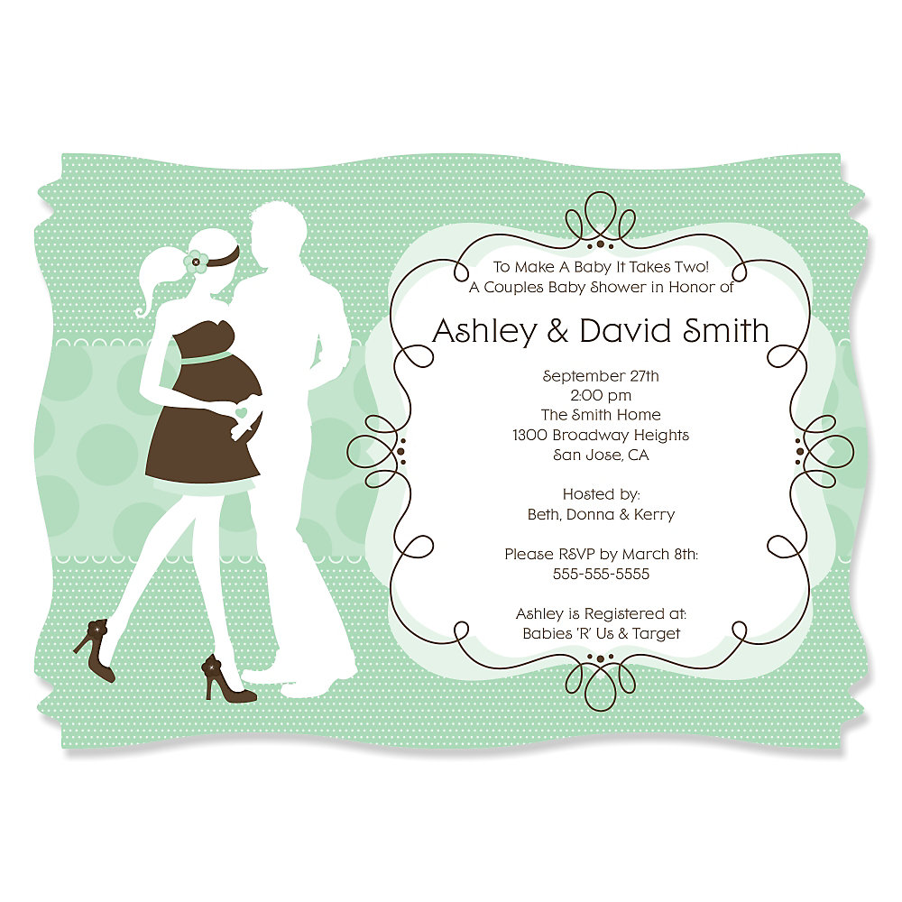Silhouette Couples Baby Shower - It\'s A Baby - Personalized Baby ...