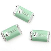 Silhouette Couples Baby Shower - It's A Baby - Personalized Baby Shower Mini Candy Bar Wrapper Favors - 20 ct