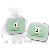 Silhouette Couples Baby Shower - It's A Baby - Personalized Baby Shower Mint Tin Favors