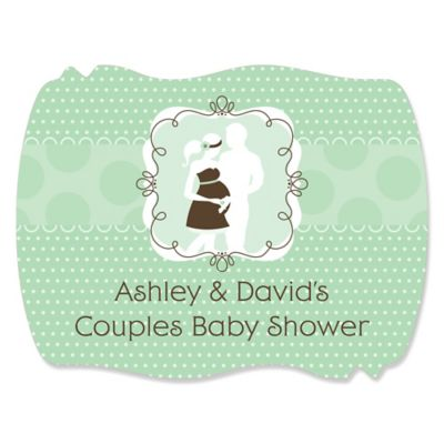 Silhouette Couples Baby Shower   Itu0027s A Baby   Personalized Baby Shower  Squiggle Stickers   16