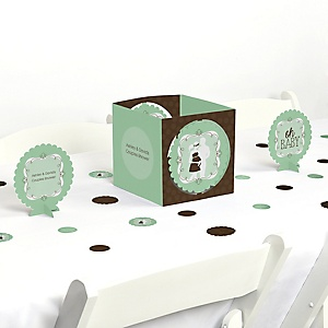 Silhouette Couples Baby Shower - It's A Baby - Baby Shower Centerpiece & Table Decoration Kit