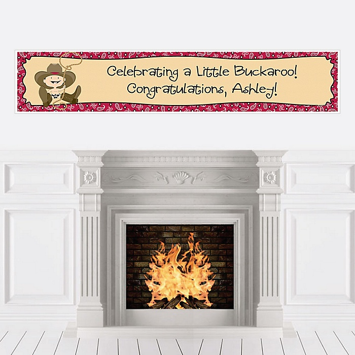 Little Cowboy - Western Personalized Baby Shower Banners
