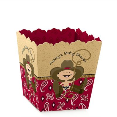 Little Cowboy   Western Personalized Baby Shower Candy Boxes
