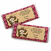 Little Cowboy - Western Personalized Baby Shower Candy Bar Wrapper Favors