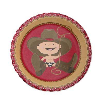 Little Cowboy   Western Baby Shower Dessert Plates   8 Ct