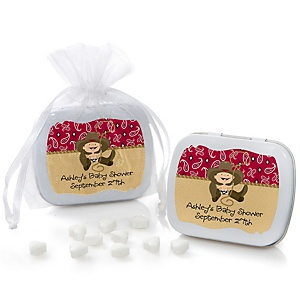 Little Cowboy - Western Personalized Baby Shower Mint Tin Favors