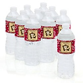 Little Cowboy - Western Personalized Party Water Bottle Sticker Labels - Set of 10