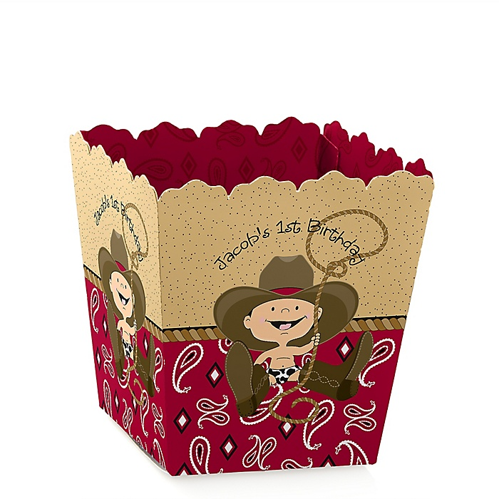 Little Cowboy - Western - Party Mini Favor Boxes - Personalized Birthday Party Treat Candy Boxes - Set of 12