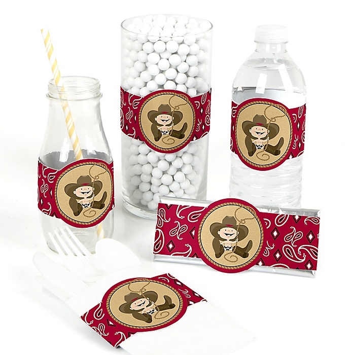 Little Cowboy - Western DIY Party Wrappers - 15 ct
