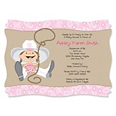Little Cowgirl - Western Personalized Baby Shower Invitations