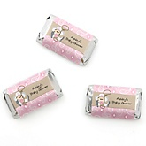 Little Cowgirl - Western Personalized Baby Shower Mini Candy Bar Wrapper Favors - 20 ct