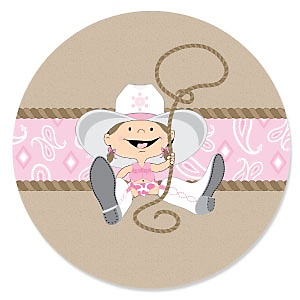 Little Cowgirl - Western Baby Shower Theme