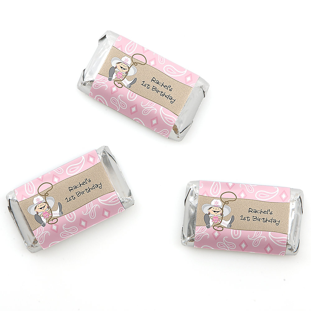 Little Cowgirl - Western Personalized Birthday Party Mini Candy Bar ...