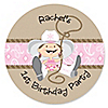 Little Cowgirl - Western Personalized Birthday Party Sticker Labels - 24 ct