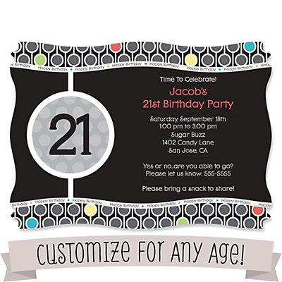 Custom birthday personalized birthday party invitations custom birthday personalized birthday party invitations bigdotofhappiness filmwisefo