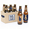 My Dad is Rad - 6 Beer Bottle Labels and 1 Carrier Father's Day Gift