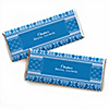 Damask Blue - Personalized Bridal Shower Candy Bar Wrapper Favors