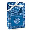 Damask Blue - Personalized Bridal Shower Favor Boxes
