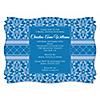 Damask Blue - Personalized Bridal Shower Invitations