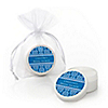 Damask Blue - Personalized Bridal Shower Lip Balm Favors
