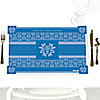Damask Blue - Personalized Bridal Shower Placemats