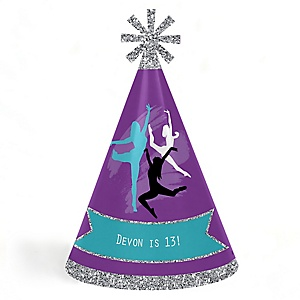 Must Dance to the Beat - Dance - Personalized Cone  Happy Dance Party Hats for Kids and Adults - Set of 8 (Standard Size)
