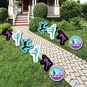 Must Dance to the Beat - Dance - Lawn Decorations - Outdoor Birthday Party or Dance Party Yard Decorations - 10 Piece