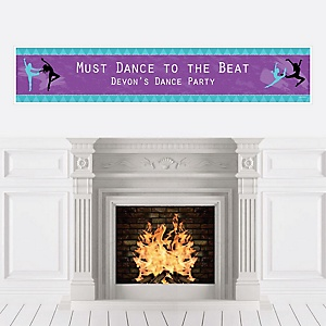 Must Dance to the Beat - Dance - Personalized Birthday Party or Dance Party Banner