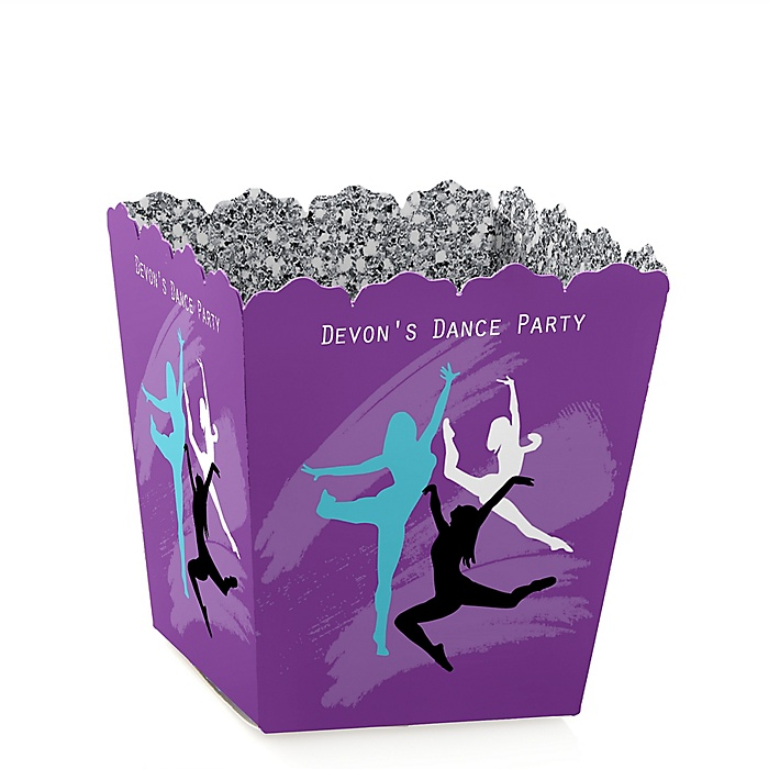 Must Dance to the Beat - Dance - Party Mini Favor Boxes - Personalized Birthday Party or Dance Party Treat Candy Boxes - Set of 12