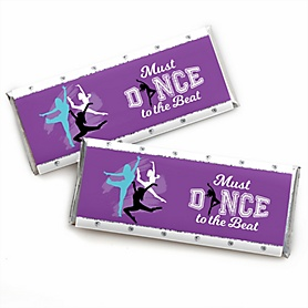 Must Dance to the Beat - Dance -  Candy Bar Wrapper Birthday Party or Dance Party Favors - Set of 24