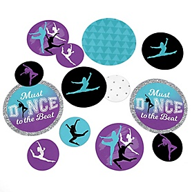 Must Dance to the Beat - Dance - Birthday Party or Dance Party Giant Circle Confetti - Party Decorations - Large Confetti 27 Count