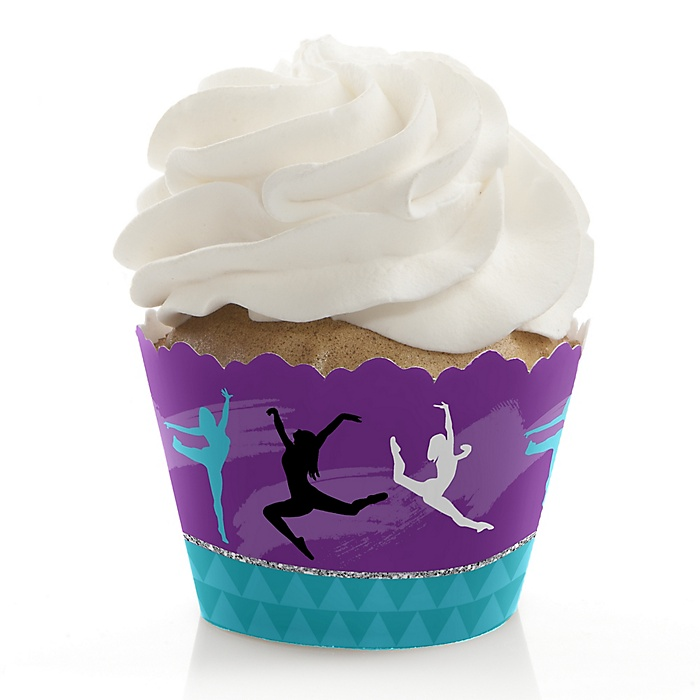 Must Dance to the Beat - Dance - Birthday Party or Dance Party Decorations - Party Cupcake Wrappers - Set of 12