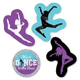 Must Dance to the Beat - Dance - DIY Shaped Birthday Party or Dance Party Cut-Outs - 24 ct