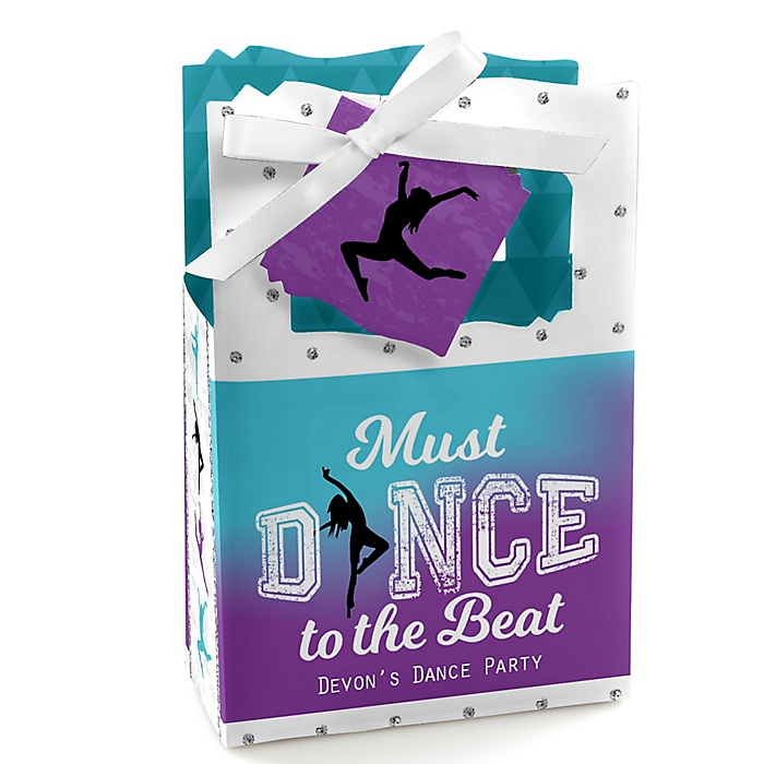 Must Dance to the Beat - Dance - Personalized Birthday Party or Dance Party Favor Boxes - Set of 12