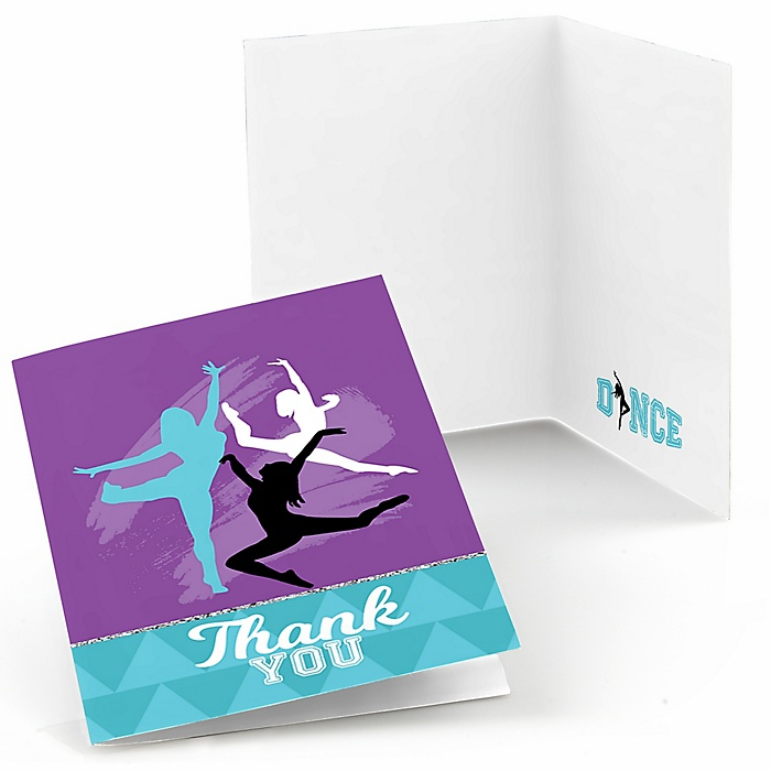 Must Dance to the Beat - Dance - Birthday Party or Dance Party Thank You Cards - 8 ct