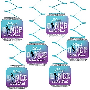 Must Dance to the Beat - Dance - Birthday Party or Dance Party Hanging Decorations - 6 ct