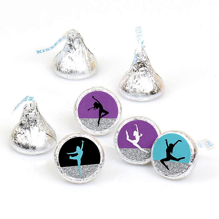 Must Dance to the Beat - Dance - Birthday Party or Dance Party Round Candy Sticker Favors - Labels Fit Hershey's Kisses  - 108 ct