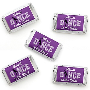 Must Dance to the Beat - Dance - Mini Candy Bar Wrapper Stickers - Birthday Party or Dance Party Small Favors - 40 Count